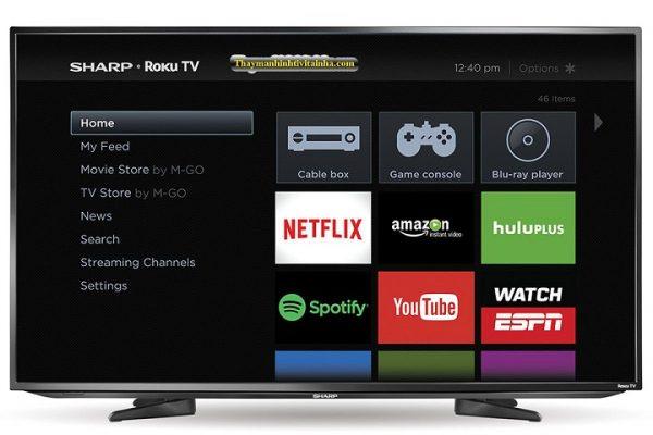 thay màn hình tivi sharp tại nhà