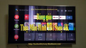 bảng giá thay màn hình tivi sony bị vỡ tại nhà