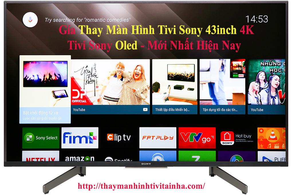 giá thay màn hình tivi sony 43inch tại nhà
