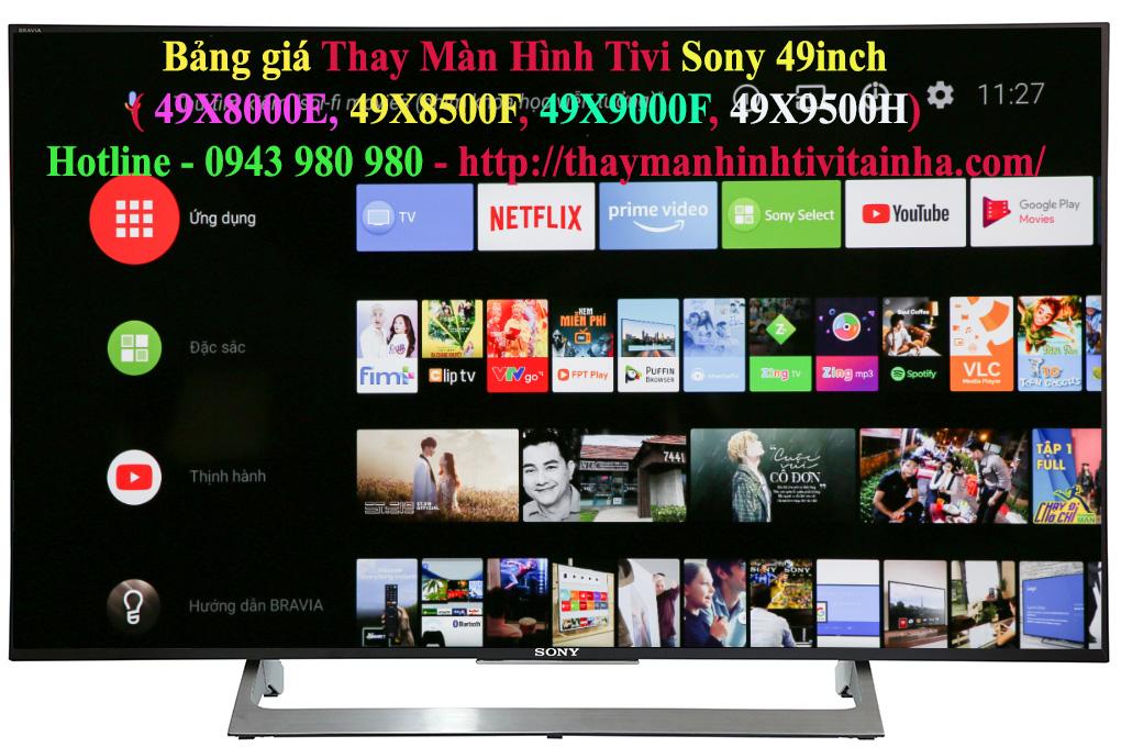 giá thay màn hình tivi sony 49inch tại nhà